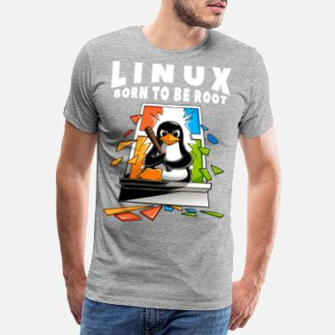 Konferens Linux - Window Crash Illustration - Premium T-shirt herr