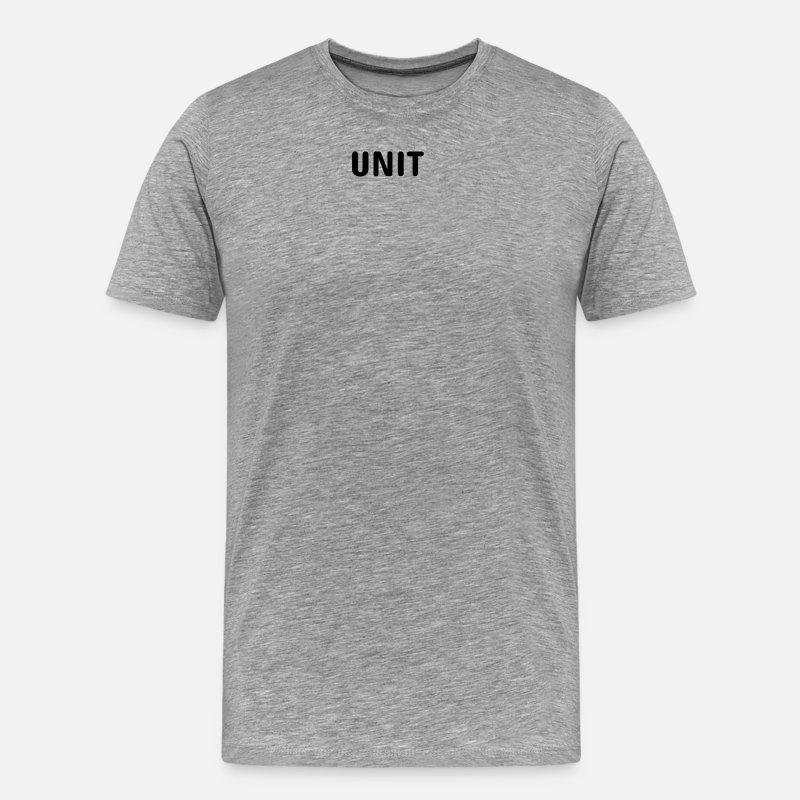 United T-paidat - UNIT Vaatteet - Miesten premium t-paita harmaasävyinen 6d8b4f83fe