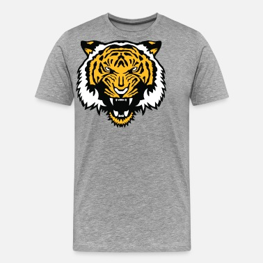 Tigre Du Bengale tigre animal sauvage face cartoon 506 - T-shirt Premium Homme