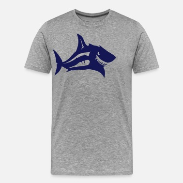 Animalbird requin tete animal 7092 - T-shirt premium Homme