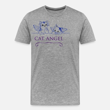Sprite cat angel meow kitten cute daVinci wings - Men's Premium T-Shirt