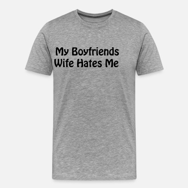 Marriage Slave Wife hate marriage wife girlfriend couple - Men's Premium T-Shirt