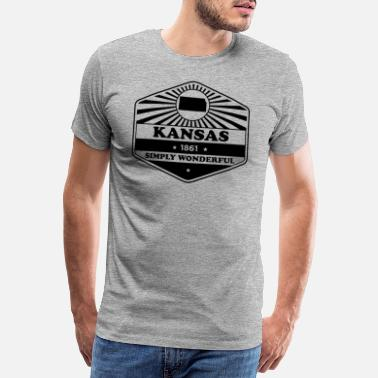 Motto Kansas State Motto design - Simply Wonderful - Premium T-shirt mænd