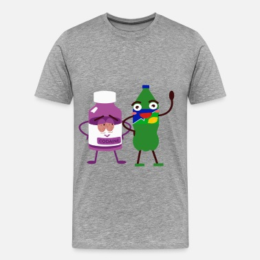 Matching Couples Team Sprite and Codaine Lean Couple Funny Friends - Men's Premium T-Shirt