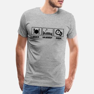 Horizontal ss200511 eat sleap box horizontal schwarz - Männer Premium T-Shirt