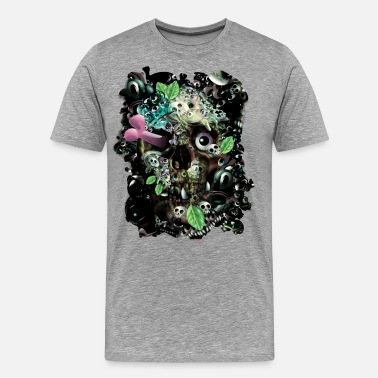 Edderkopper Monster Skully Night - Premium T-skjorte for menn