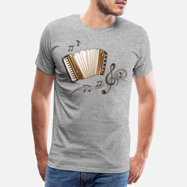 Dragspel Oktoberfest Accordion Musik Folkmusik - Premium T-shirt herr