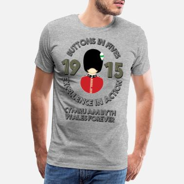Application Welsh Guards, Buttons in Fives - Men's Premium T-Shirt