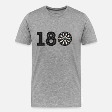 Trinker Spiele 180 One hundered and eighty I Dartspielen Dart WM - Männer Premium T-Shirt
