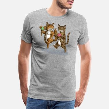 Eis Mice-Cream-Kittens - Männer Premium T-Shirt