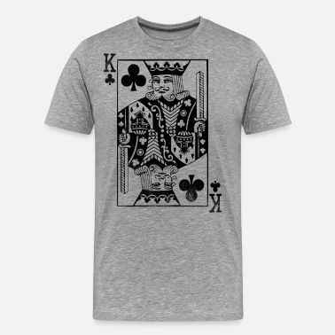 Kaartspel Vintage King Card - Cross King Retro pokerkaart - Mannen Premium T-shirt