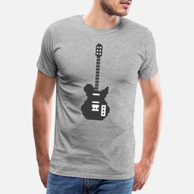 Rocknroll Pixel E Guitar Player Guitarist Gamer Gift - Premium T-skjorte for menn