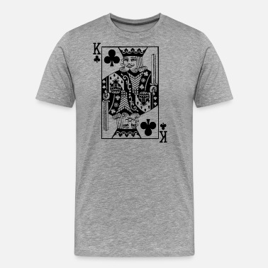 King Queen Jeu de cartes Cross King - T-shirt Premium Homme
