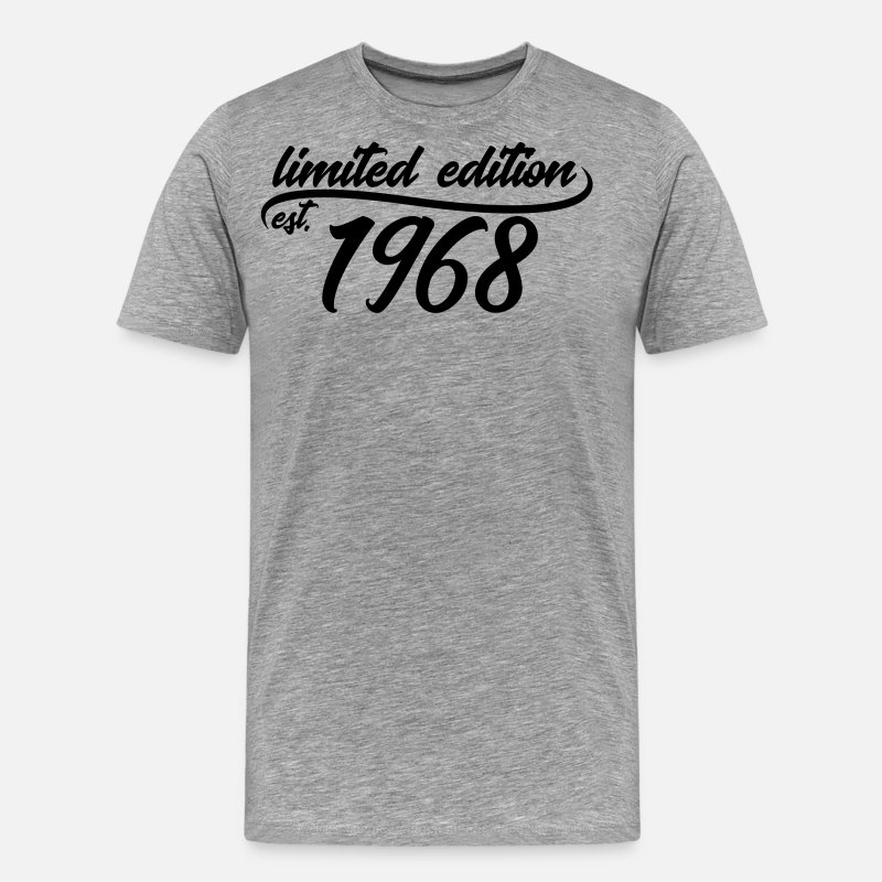 Birthday T-Shirts - Limited edition est 1968 - Men's Premium T-Shirt heather grey