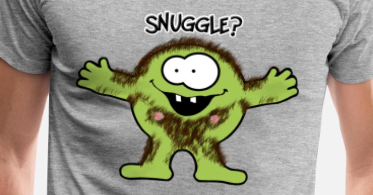 Kose? Hårete monster Premium T skjorte for menn   Spreadshirt