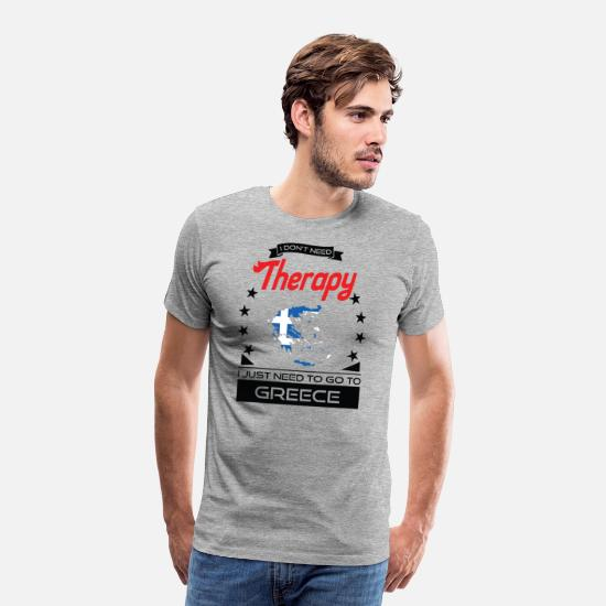 Greece T-Shirts - Greece - Better Than Therapy - Gift - Men's Premium T-Shirt heather grey
