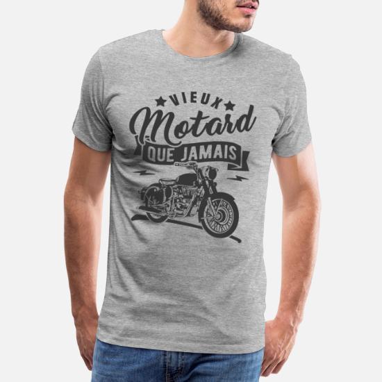 Men's T-Shirts Moto Légendaires Motards T-Shirt Hommes Motard Vélo Moto  Café Racer Personnalisé stimex