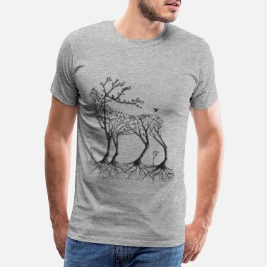 Forest Forest deer in black - Men's Premium T-Shirt