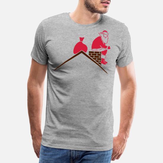 styles classiques date de sortie: nouveau design Père Noël caca dans la cheminée T-shirt premium Homme ...