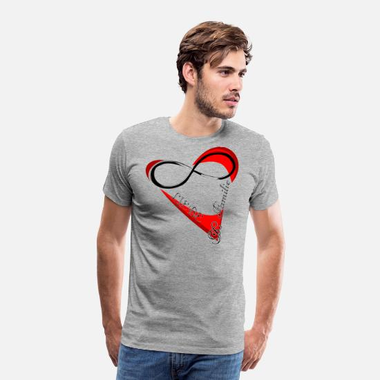 Family T-Shirts - Love and family valentines day gift - Men's Premium T-Shirt heather grey