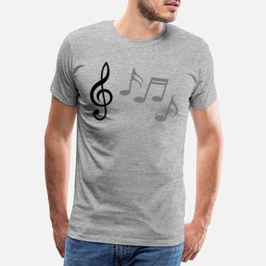 Treble Clef Happy melody * Music notes treble clef - Men's Premium T-Shirt