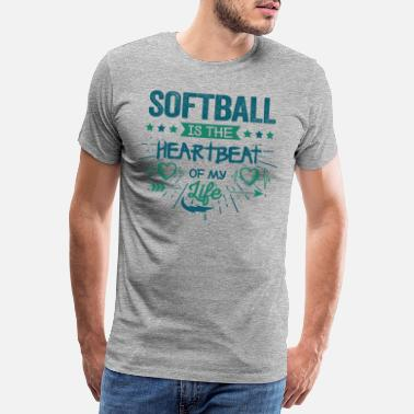 Softball Cool Leuk Softball Team Fan Gezegden Grappig Grappig Fantastisch - Mannen premium T-shirt