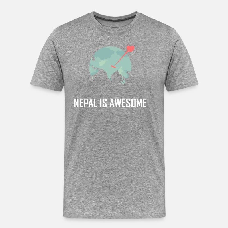 Nepal T-Shirts - Nepal is awesome - Men's Premium T-Shirt heather grey