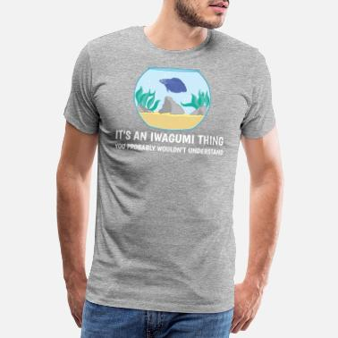 Aquatisch Het is een Iwagumi Thing Fishkeeping Gift Aquascaping - Mannen premium T-shirt