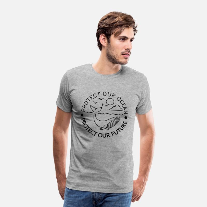 Planet T-Shirts - Environment Earth Nature - Men's Premium T-Shirt heather grey