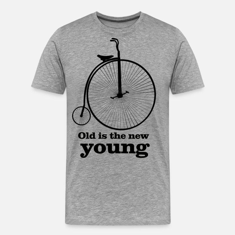 Young T-Shirts - Old is the new young - Men's Premium T-Shirt heather grey
