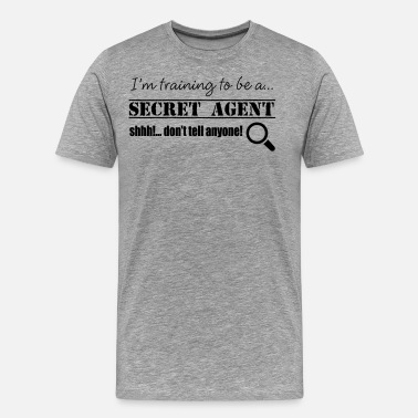 Secret Agent Secret Agent - Men's Premium T-Shirt
