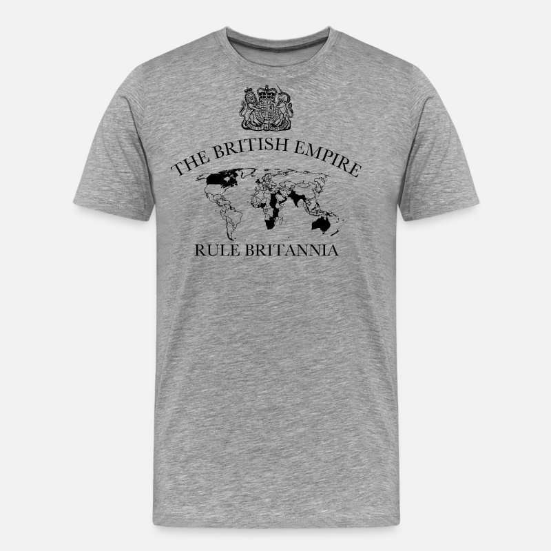 The British Empire T-Shirts - RULE BRITANNIA - Men's Premium T-Shirt heather grey