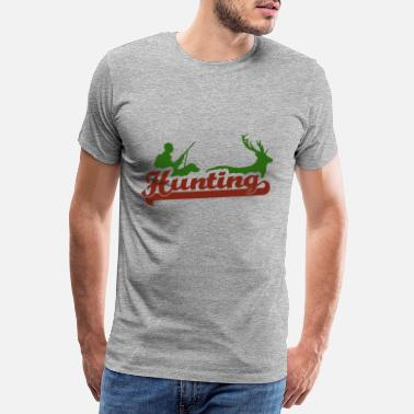 Hunting Dog Hunting with a hunting dog - Men's Premium T-Shirt