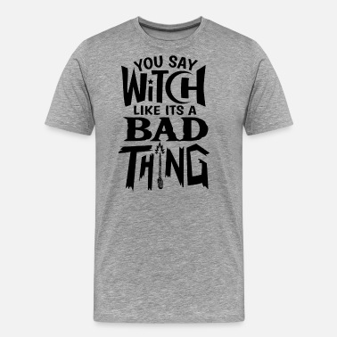 Witches Broom Witch witchcraft magic Halloween funny gift - Men's Premium T-Shirt