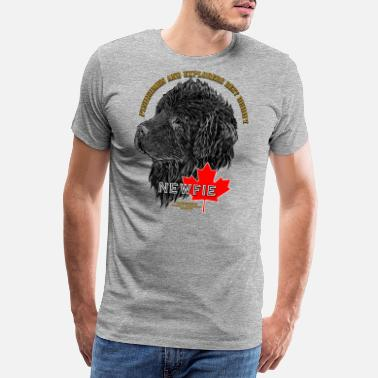Gentle newfoundland_head - Men's Premium T-Shirt