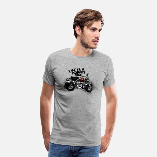 Monkey T-Shirts - Monkeybike - Men's Premium T-Shirt heather grey