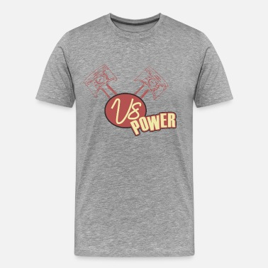 V8 Power V8 Power retro - Männer Premium T-Shirt