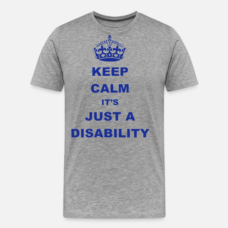 Disability T-Shirts - Disability - Men's Premium T-Shirt heather grey