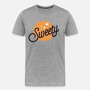 Term Of Endearment Sweety lettering yellow with stars typo gift - Men's Premium T-Shirt