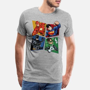 Marvel DC Comics Justice League Superhelden - Männer Premium T-Shirt