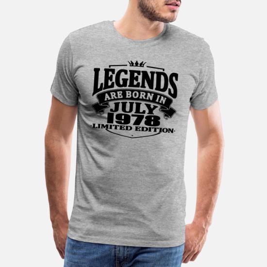 c88ce6f0 Legends are born in july 1978 - Men's Premium T-Shirt. Back. Back. Design.  Front
