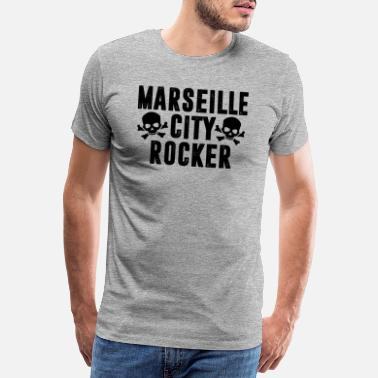 Noir Girls Rock MARSEILLE CITY ROCKER noir - T-shirt premium Homme