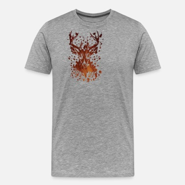 Stag And Doe Deer ink stain ink - Men's Premium T-Shirt