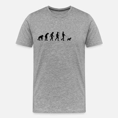 Evolution Dog French bulldog evolution - Men's Premium T-Shirt