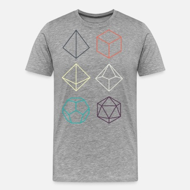 Dice Minimal dnd (dungeons and dragons) dice - Männer Premium T-Shirt