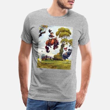 PonyRodeo Thelwell Cartoon - Men's Premium T-Shirt