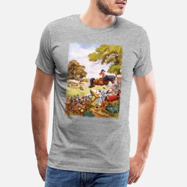 Officialbrands PonyTurnier Thelwell Cartoon - Männer Premium T-Shirt