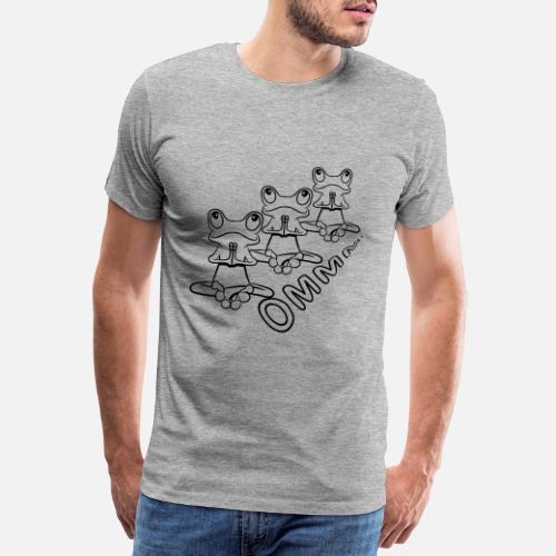 040a2960c2d ... yoga relajación orar - Camiseta premium hombre gris jaspeado. ¿Quieres  personalizar el diseño