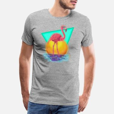 Flamingo 80´s Flamingo - Männer Premium T-Shirt