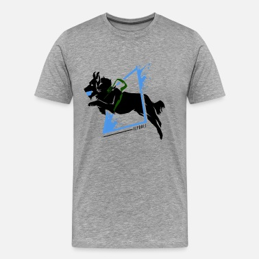 Greyhound Flyball - Männer Premium T-Shirt